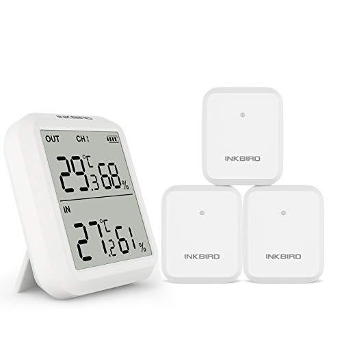 Inkbird ITH-20R Termómetro Higrómetro Digital para Interiores y Exteriors, LCD Pantalla Termohigrómetro...
