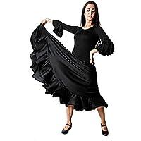 Costumizate! Falda de Baile Flamenco Negra con un Volante para Mujer Adulta Talla s