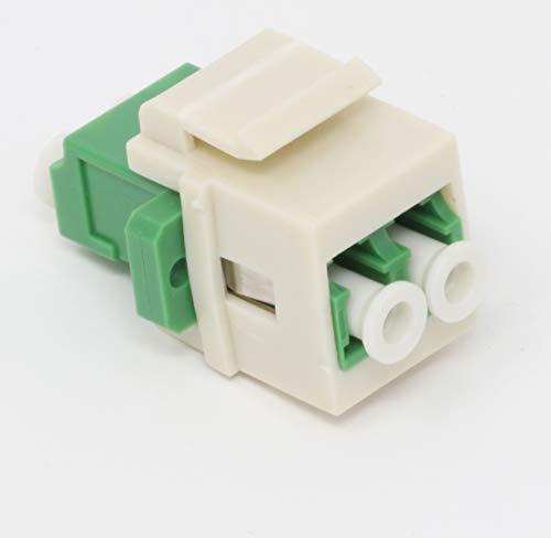 Faser Keystone-Koppler Jack LC Duplex Singlemodefasern APC LC Duplex Singlemode APC Light Almond -