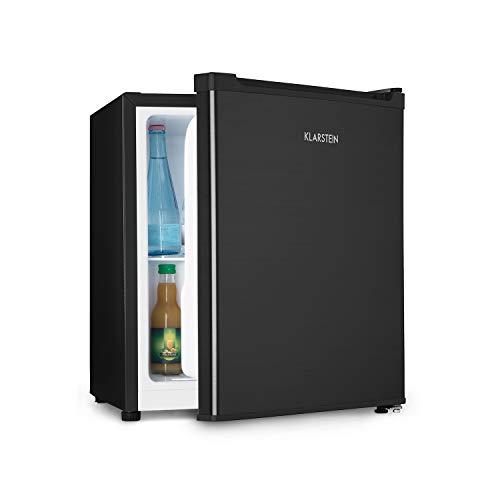 Klarstein Snoopy Eco - Mini-Kühlschrank mit Gefrierfach, 46 Liter Fassungsvermögen, 4 Liter Gefrierfach, 41dB leise, stromsparend, schwarz
