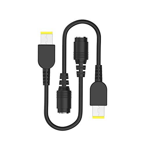 (2 Stück) Tipps Konverter-Adapter-Netzkabel Ersatz Ladekabel von 7.9mm auf eckig für Lenovo ThinkPad X1 Carbon;Ideapad Yoga11,11s,13,2Pro,Flex 14,15,ThinkPad Helix X240,IBM IdeaPad Flex14 Flex15