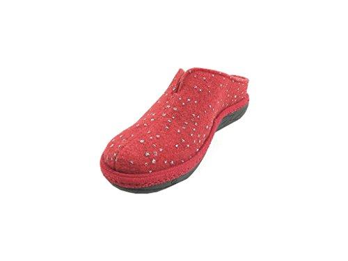 Plantas Cotillard Ciabatte Pantofole Donna Plantare Estraibile Rosso Rosso
