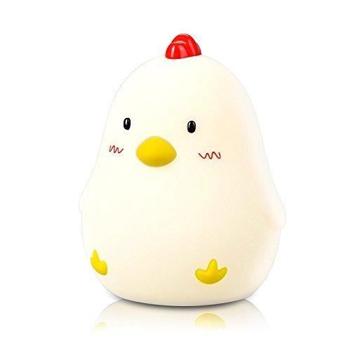 TKSTAR 2in 1Wake up Cute Wecker mit Licht, Schlafzimmer Schreibtisch Beleuchtung für Baby/Kids, Chicken, Lampe, Weich toys-ju-ldc03 - Blinkt Wecker Licht