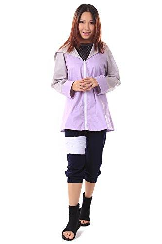 De-Cos Naruto Shippuden Hidden Leaf Shinobi Hyuga Hinata Outfit V3 (Cosplay Uk Hinata)