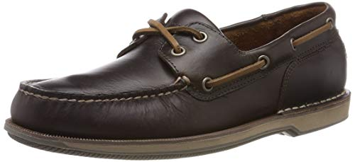 HUWSO|#Rockport Perth Ports of Call Boat Shoe, Náuticos para Hombre, Beeswax/Dk Brown Lea 002, 9 EU