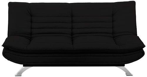 AC Design Furniture Bettcouch Jasper, B: 196 x T:98 x H: 91 cm, PU, Schwarz