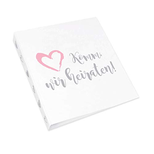 Ja-Hochzeitsshop Planungsordner (Format DIN A4) + GRATIS Checklisten + Erinnerungsbox. Perfekt für Eure Hochzeitsplanung. Hochwertige Qualität + Made in DE