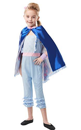 Rubies - Disfraz oficial de Disney Toy Story 4, Bo Peep Girls Deluxe, talla para niños de 9 a 10 años