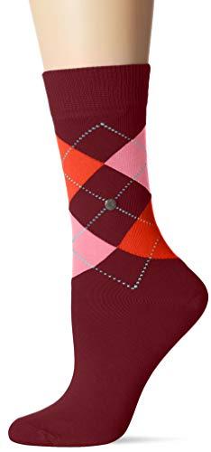 Burlington Damen Queen Socken, per pack Mehrfarbig (ruby-lotus 8372), 36/41 (Herstellergröße: 36-41)