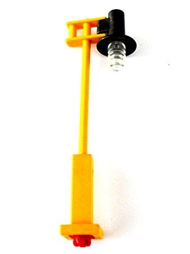 playmobil ® Lampe - Leuchte - Straßenlaterne für X System - Kandelaber - mit gelbem Mast (Kandelaber-leuchte)
