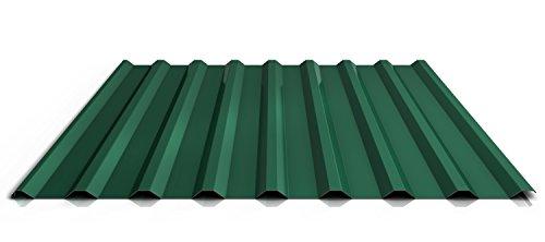 Trapezblech | Profilblech | Dachblech | Profil PA20/1100TRA | Material Aluminium | Stärke 0,70 mm | Beschichtung 25 µm | Farbe Nadelgrün