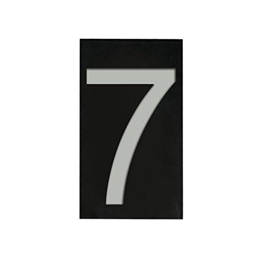 Solar 6 LED Licht Solarleuchte Hausnummer Zeichen Haus Hotel Tür Plaketten Digit Platte Nummer - Schwarz 7, 6-polig 5A