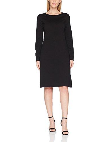 Marc O'Polo Damen Kleid M09518367041, Schwarz (Black 990), 38 (Jersey Sleeve Strumpfhosen Long)