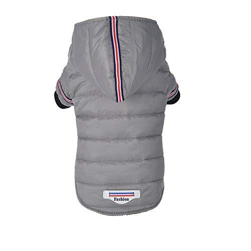 MYYXGS Piumino per Cani Abbigliamento per Animali Cappotto in Cotone Piumino Cappotto Caldo Leggero Vestiti Caldi per Cani Invernali M