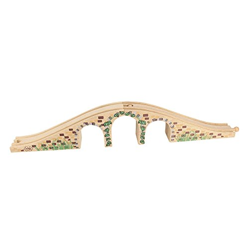 Bigjigs Rail Three Arch Bridge - Other Major Wooden Rail Brands are Compatible