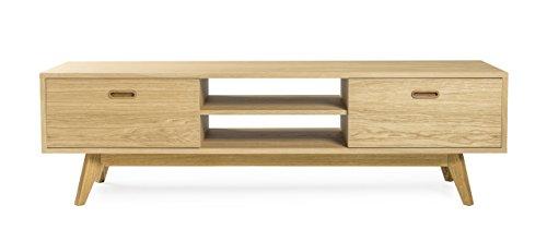 Eiche Furnier Matt (Tenzo 2162-554 Bess Designer TV Bank, 50 x 170 x 43 cm, eiche furniert)