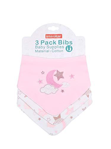 Enfant Bébé Bandana Dribble Bavettes avec Boutons De Presse Coton 0-3 Ans Pack De 6Pieces Pack,Starmoon