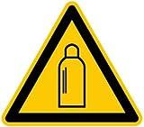 1832. W019 Warnung vor Gasflaschen - Kunststoff SYMBOL