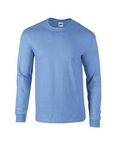 Gildan Ultra Cotton L/Sleeve Tee, Maglietta Uomo Bleu - Carolina Blue