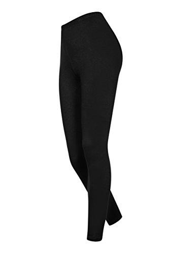 Lange Leggings aus Baumwolle für Mädchen (146, schwarz)