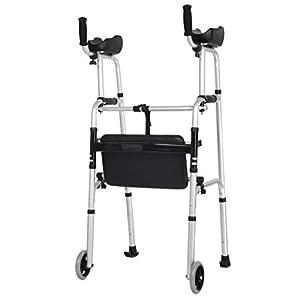 SUN HUIJIE Multifunktionswanderer Aluminiumlegierung älterer Faltbarer Rollstuhl Behinderte Fitnessgeräte