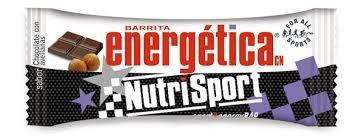 barrita energética NutriSport sabor chocolate con avellanas 10unidade