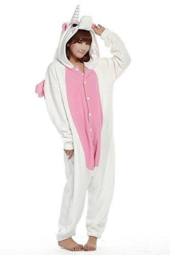 Kigurumi-Pijamas-Unisexo-Adulto-Traje-Disfraz-Adulto-Animal-Pyjamas-Pink-Unicorn-M