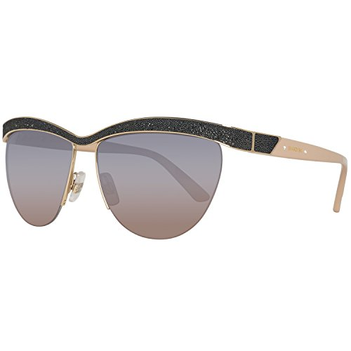 Swarovski Damen SK0076-6032B Sonnenbrille, Gold/Gradient Smoke, 60