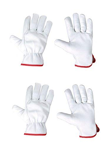 Keron Gartenhandschuhe, Arbeitshandschuhe, Fahrhandschuhe, weiches Leder, leicht, 2 Paar