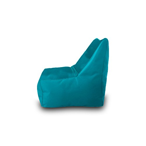 Bean Bag Beanbag Chair Polyester Waterproof 75 x 75 cm (Turquoise)