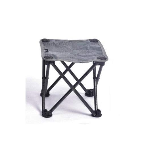 Fvfvfv Ultralight bewegliche Klapphocker, Außen Klappstuhl Camping Angeln Jagd Picknick Reise Sketch Chair (Color : Gray, Größe : Large)