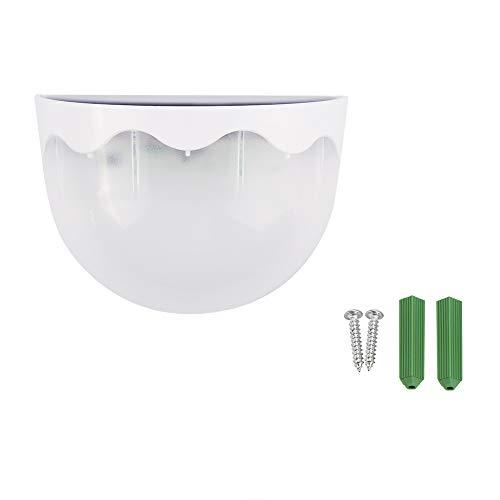 GLOGLOW Solar Garten Lampe, Solar Powered Wall Mount 6 LED Licht Landschaft Küche Dinning Home Haushalt Wasserdichte Beleuchtung(Reinweiß) 01 Wall Mount