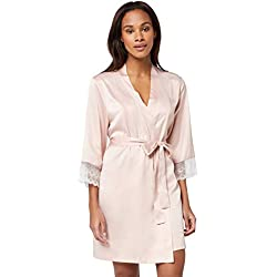 Iris & Lilly Amz19ssr03 Robe De Chambre, Rose Smoke), 38 (Taille fabricant: Small)