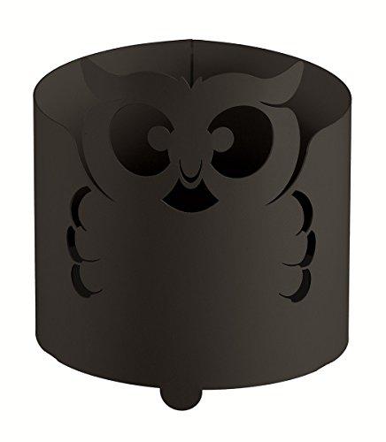 chace-pot Hibou noir