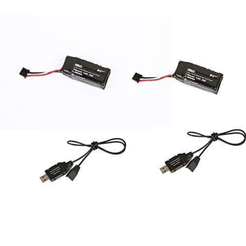 Hubsan 2 PCS 7.6V 710mah 30C lipo Batterie et 2pcs Chargeur de câble H122D X4 Storm Quadcopter