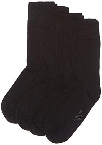 Camano Herren Socken 3512 Ca-Soft Bio-Cotton 4 Paar, 4er Pack, Schwarz (Black 05), (Herstellergröße: 39/42)