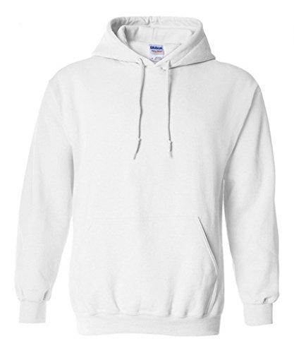 Smile YKK Herren Jungen Langärmelig T-Shirt Hoodies Sweatershirts Sweater Pullover Langarmshirt Sweat Heavy Mit Kapuze Weiß