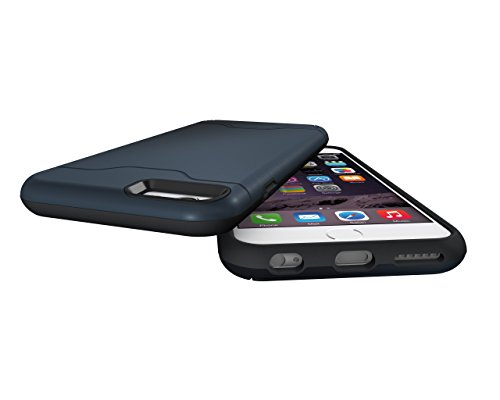 Coque iPhone 6,iPhone 6S Housse,Slynmax Design de mode unique extérieur[Combo hybride][Lisse][Ultra mince][Pare-chocs]Résistant aux Rayures Étui Shock-Absorption Bumper Case des chocs Cover Shell with Bleu Foncé