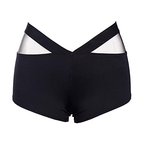 JYJM Frauen Sport Shorts Gym Workout Bund Skinny Yoga Kurze Hose Leggings Damen Sporthose Hohe...