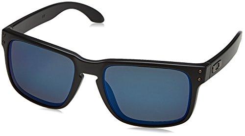 b8dd9c658b Oakley Sonnenbrille Holbrook, Gafas de Sol Polarizadas Unisex, Negro (Matte  Black/Emerald