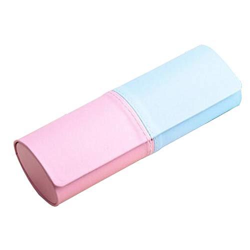 Frischer Art-Mode-Brillen-Kasten mit magnetischem Verschluss-Sonnenbrille-Kasten Blau + Rosa