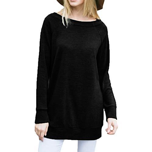 Preisvergleich Produktbild Sannysis Damen Pullover Langarmshirt Elegant Frauen Langarm Solid Bluse Sweatshirt Pullover Casual Tops Shirt