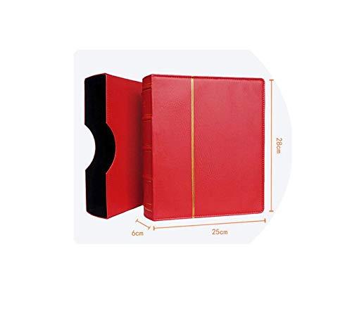Hard Cover 70 Blatt 25 * 28cm Münze Buchhalter-Dollar-Geldschein Sammlung Geld-Münzen-Schutz Buch Gedenkmünzen Album, Red 40 Mix
