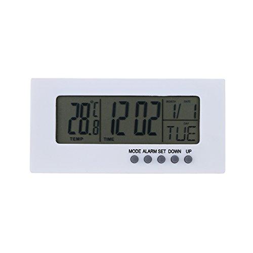 Sharplace Mini Digital Wecker Tischuhren mit Kalender Thermometer , 10x5x2.5cm