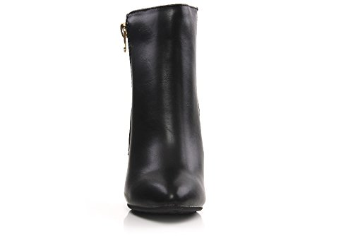 Unze Robe' Frauen Winter Knöchel Stiefel Reißverschluss - Y1101-422 Schwarz