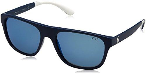 Polo Ralph Lauren Herren 0Ph4131 566255 57 Sonnenbrille, Blau (Navy Blue)