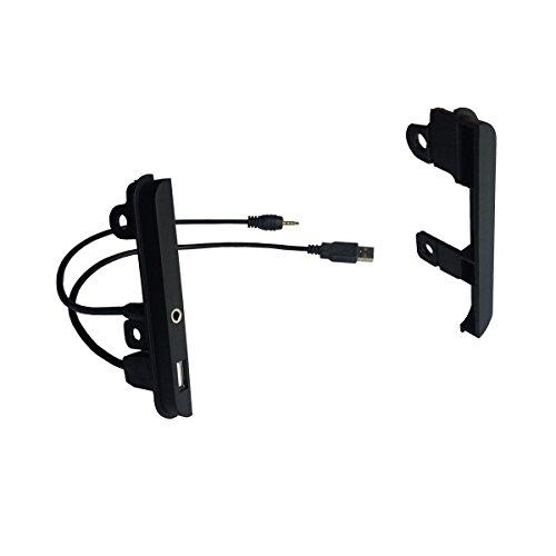 Maxiou Doppel-Din-Autoradio-Rahmen für Renault Trafic Opel Vivaro Stereo DVD Armaturenbrett-Blende Adapter