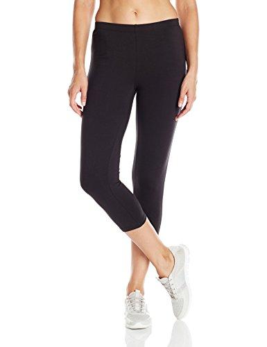 Hanes Women's Stretch Jersey Capri, Black, Medium Capri Spandex Jersey