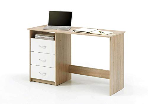 Avanti trendstore - scrivania in legno di quercia sonoma/bianco dŽimitazione - ca. 120x77x50