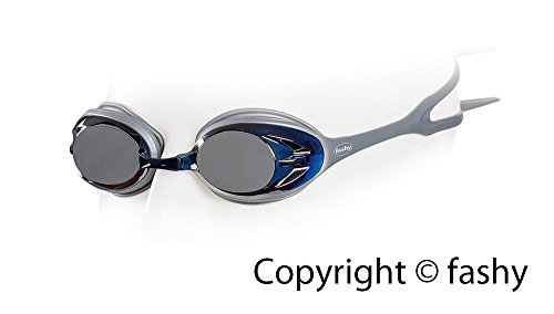 Fashy Power Mirror Schwimmbrille Silber Verspiegelt, L
